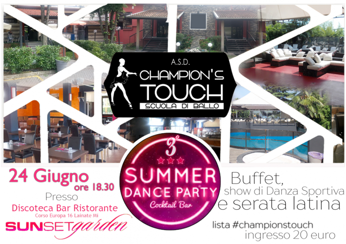 Evento: 24 Giugno 2017 il 3° Summer Dance Party