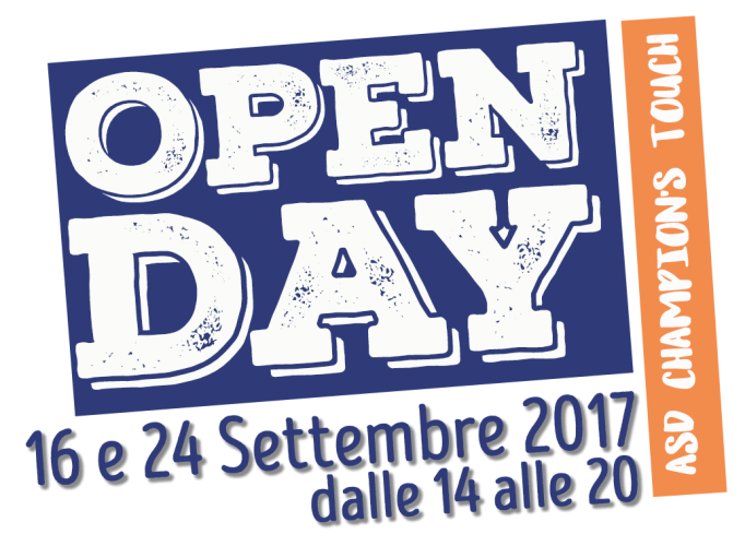 ULTIMA CHANCE…24 Settembre Open Day Champion's Touch!